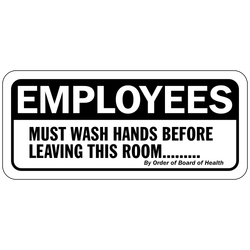 DB-118 Employees Must Wash Hands